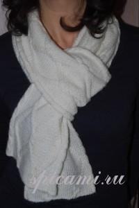 вязаные шарф спицами