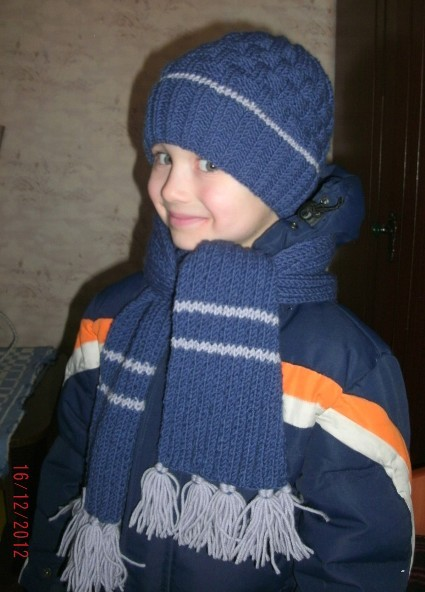 шапка для мальчика | Вязание спицами, крючком, уроки вязания