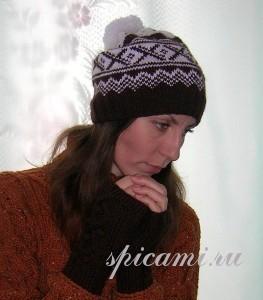 вязаная шапочка в норвежском стиле