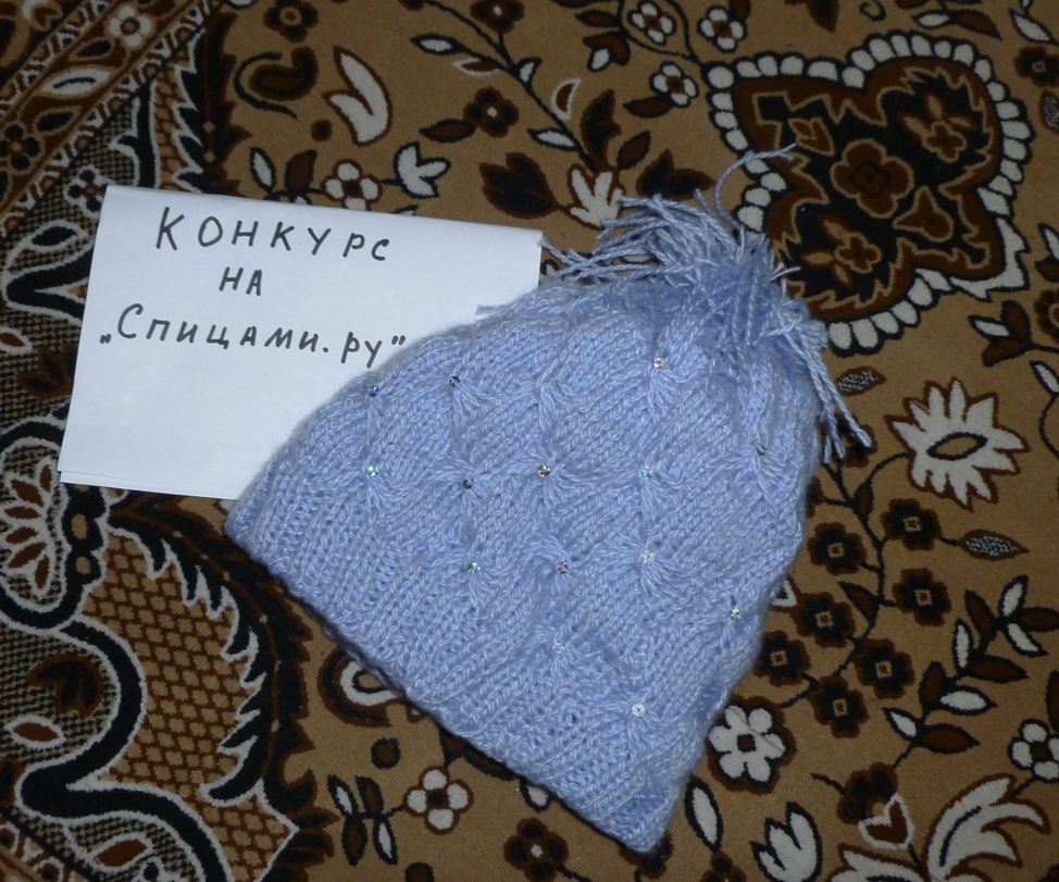 Вязание шапок с бабочками 510
