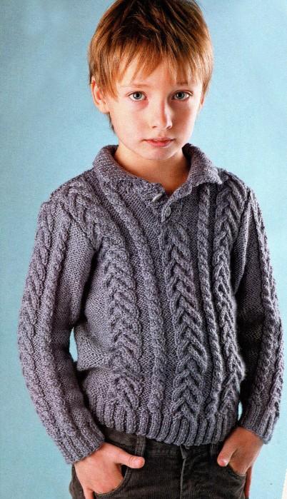 вязаный свитер для мальчика вязание спицами крючком уроки вязания
