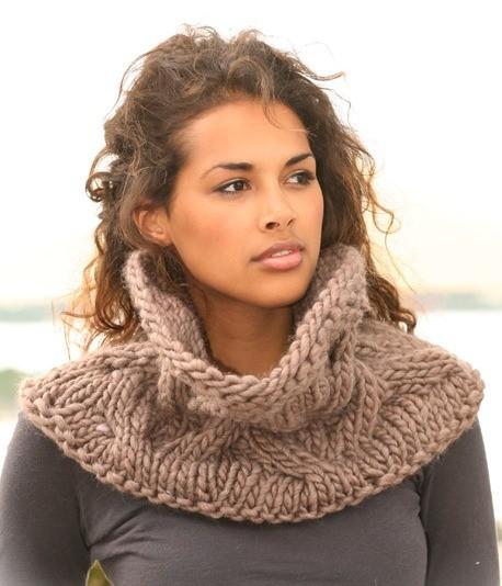 шарф воротник крючком из толстой пряжи