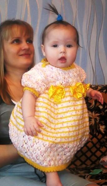 Платье на 6 месяцев своими руками