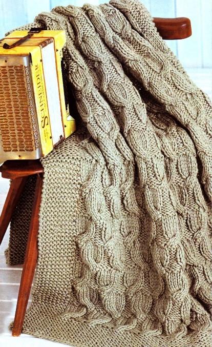 образец вязания пледа спицами - фото 2