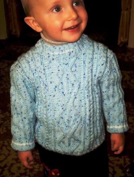 Вязание свитера для мальчика на 2 года