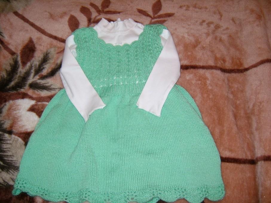 Урок вязание спицами платье для девочки