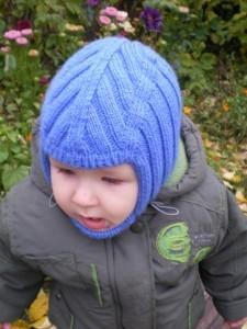 вязаная шапка шлем