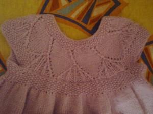 кокетка у вязаного платья