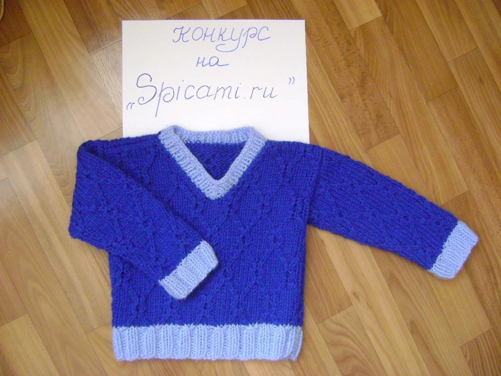 Вязание крючком свитера на мальчика 157