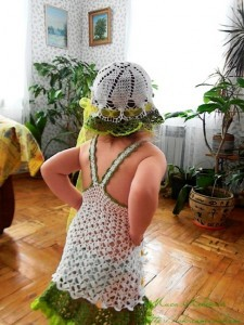 как связать сарафан для девочки на лето