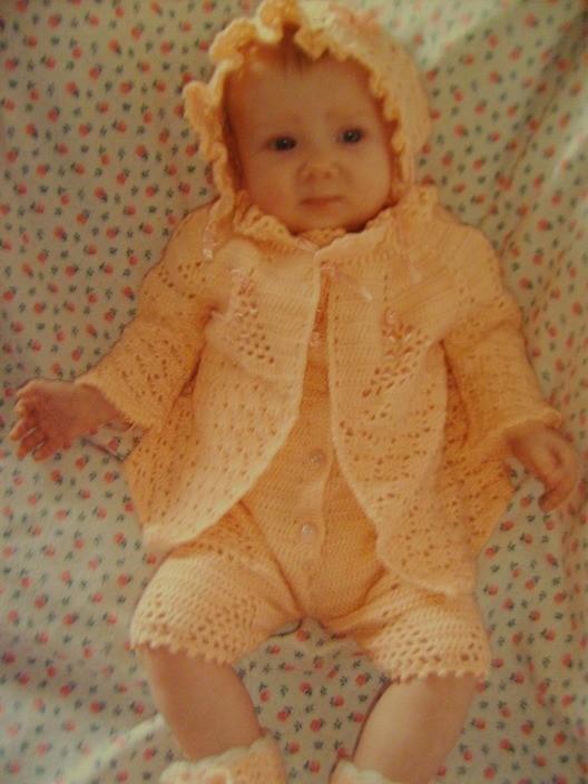 Вязание спицами девочкам до 4 месяцев