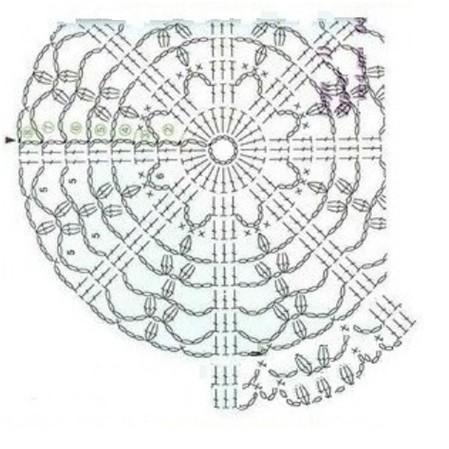 Низ обвязала 3 рядами столбиков без накида.Связала козырек по схеме (вверху)...