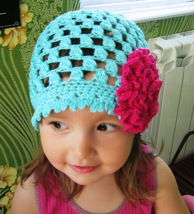 вязание шапочка для девочки зимняя