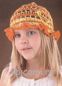 схема вязание панамки для детей