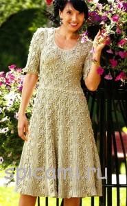 платье спицами с описанием