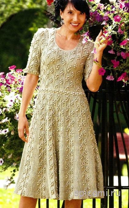 Вязание крючком платье для осени
