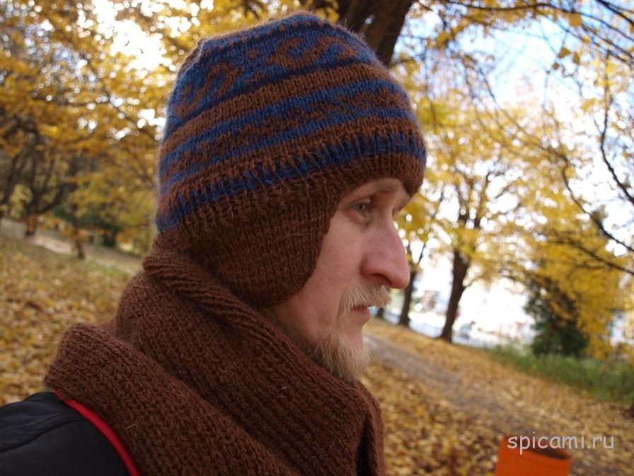 Видеоуроки вязание мужских шапок 96