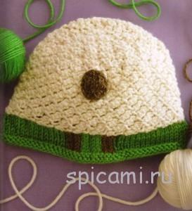 вязаная шапочка для малыша овечка с описанием