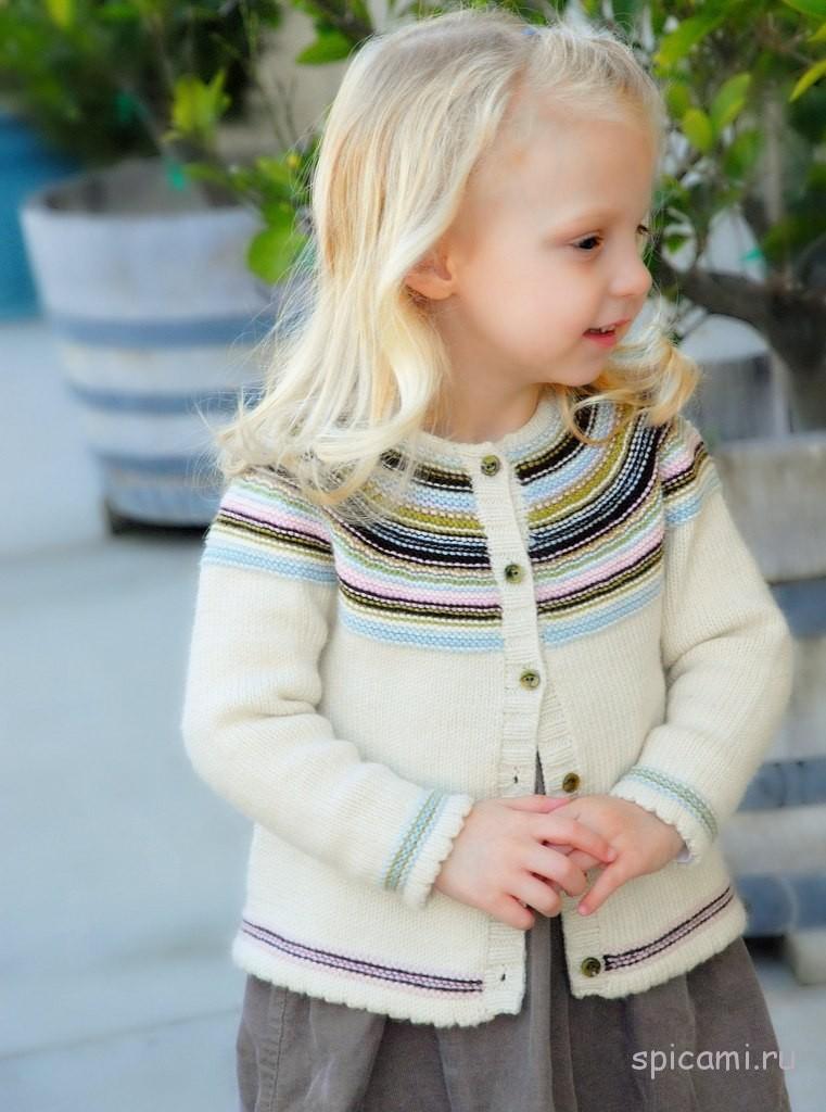 схема вязания жакета для девочки размер 110