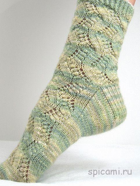 вязание спицами носки ажурные красивые узоры