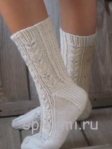 вязаные носки с совами