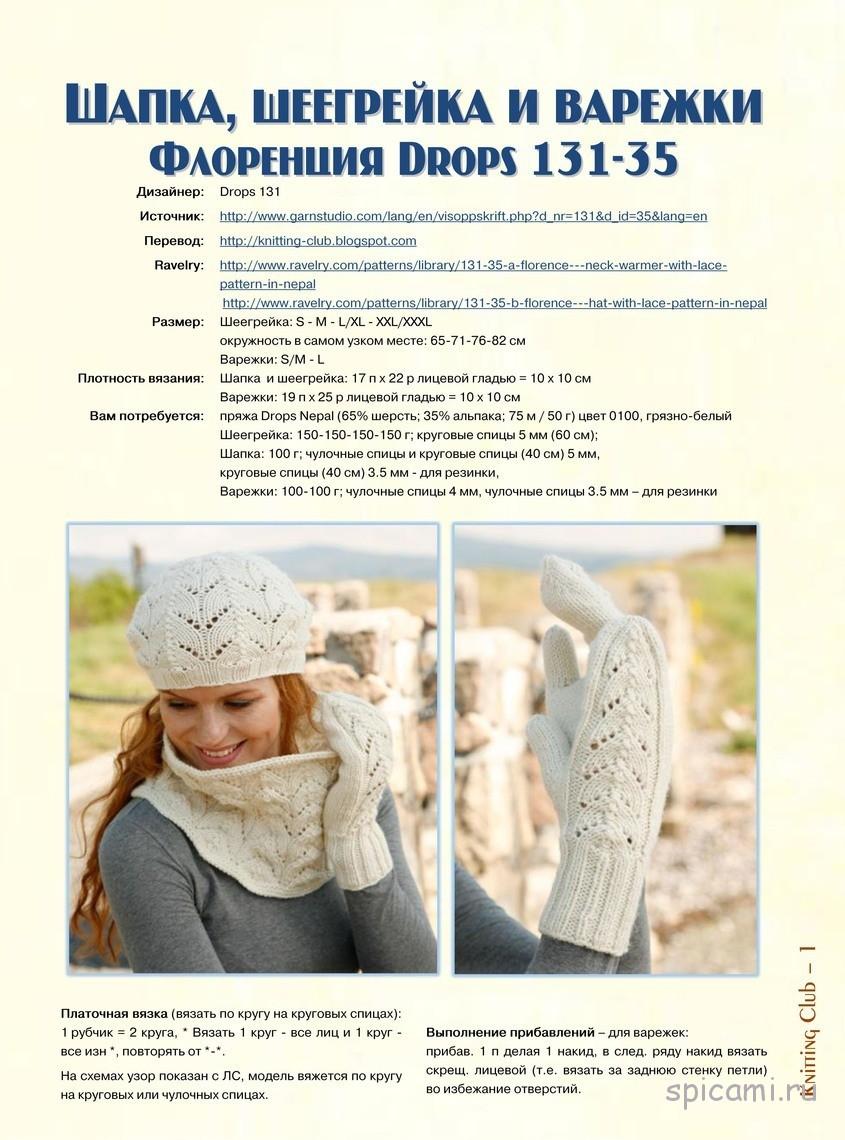 Схемы вязаных шапок для женщин с описанием 20168