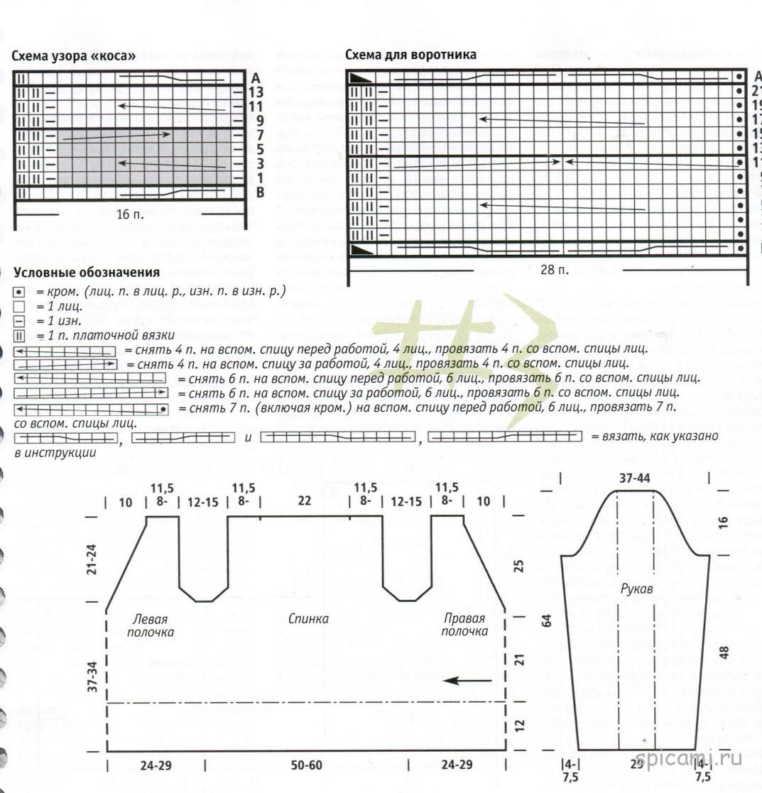 Кардиган лало схема вязания подробно