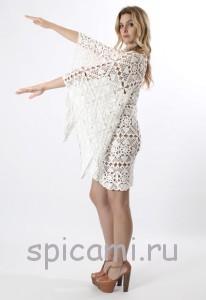 красивое платье крючком из мотивов