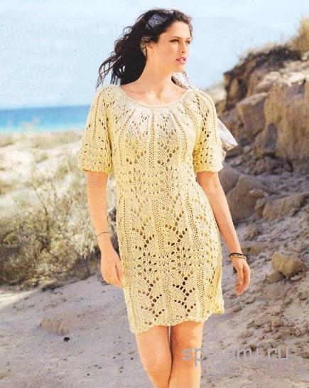 Платье вязаное на лето