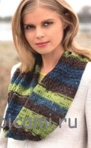 вязаный шарф-воротник