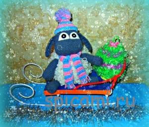 вяжем барашка на новый год