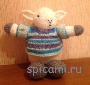 вязаная овечка спицами