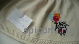 вышивка на вязаном платье