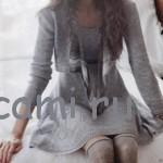 Вязаное платье и короткий жакет