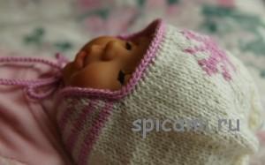 шапочка с ушками для малыша