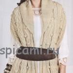 Вязаный шарф-накидка