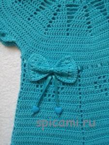 бантик на платье крючком