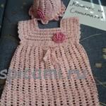 Платье и панамка на лето для малышки