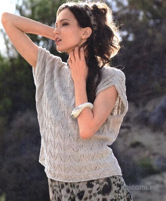 Модели вязание на спицах из льна