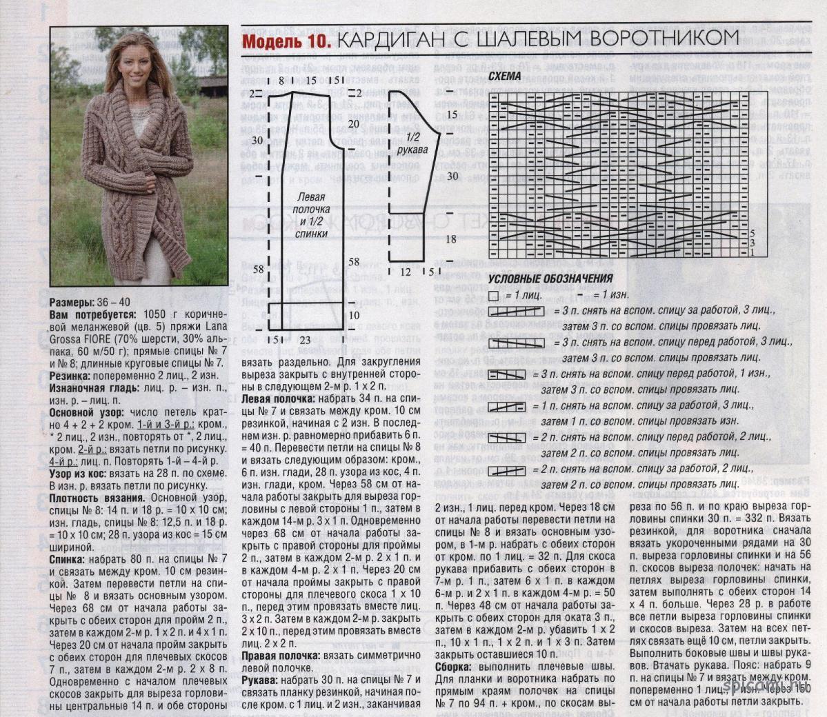 Схемы вязания кардигана крючком для начинающих с описанием 49