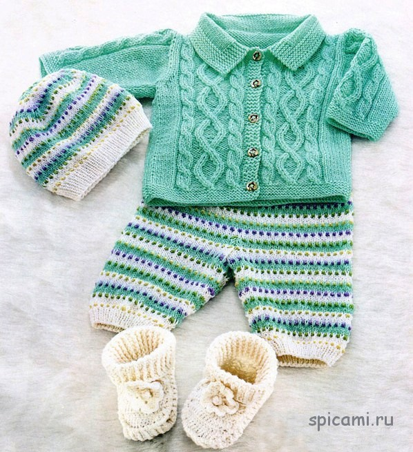Вязание спицами штанишек для новорожденных - схемы вязания
