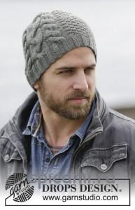 вязаная мужская шапка