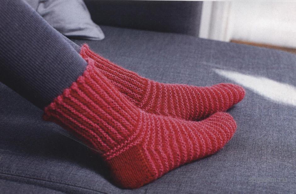 Подробное фото как вязать носки