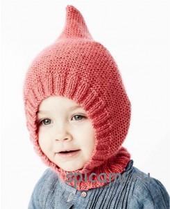 вязаная шапочка шлем для малыша