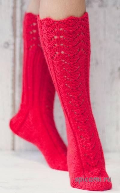 ажурные вязаные носки галерея вязаных изделий