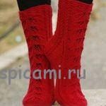 Ажурные носки «Autumn Glow» от Drops Design вязаные спицами