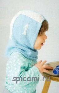шапочка шлем спицами