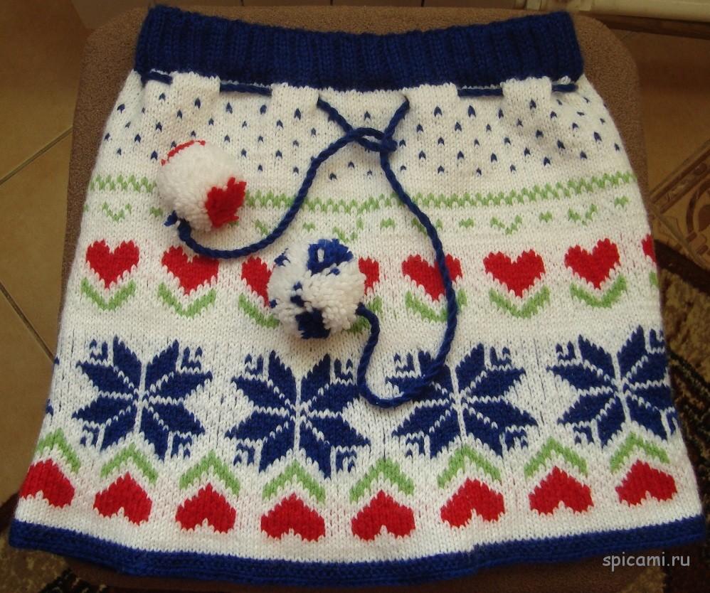 Вязанные пышные юбки