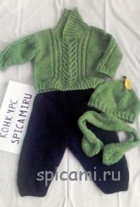 вязаный свитер и шапочка для мальчика