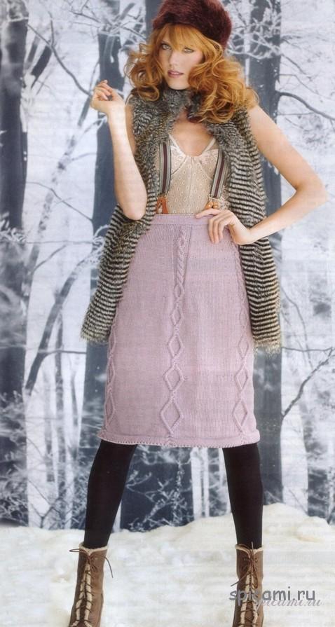 Вязаные теплые юбки